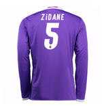 Camiseta Real Madrid Away 2016/17 (Zidane 5) de niño