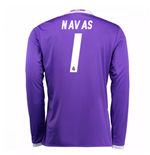 Camiseta Real Madrid Away 2016/17 (Navas 1) de niño