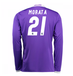 Camiseta Real Madrid Away 2016/17 (Morata 21) de niño