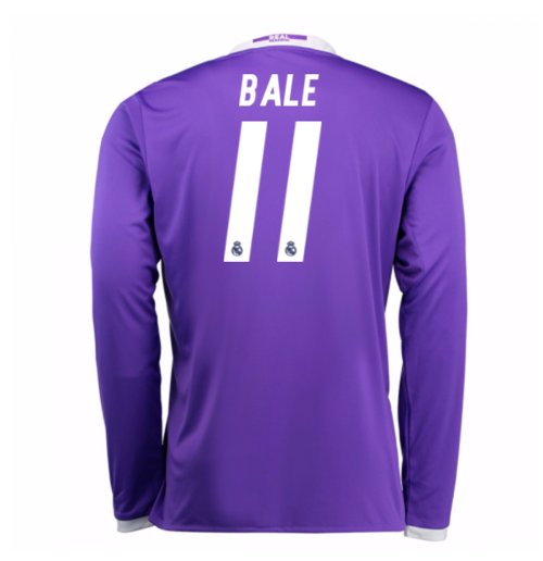 Camiseta Manga Larga Real Madrid Away 2016/17 (Bale 11)