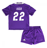 Mini conjunto Real Madrid Away 2016/17 de bebé (Isco 22)