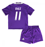 Mini conjunto Real Madrid Away 2016/17 de bebé (Bale 11)