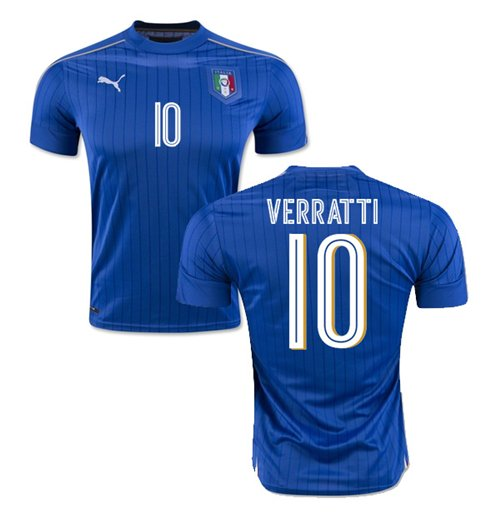 Camiseta Italia Home 2016/17 (Verratti 10)