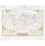 Póster World map 257913