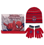 Pack gorro guantes y braga Spiderman