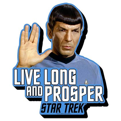Imán Star Trek  Live Long And Prosper