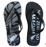 Chanclas All Blacks Maori Negro