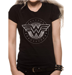 Camiseta Mujer Maravilla Movie - Chrome Logo