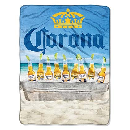 Toalla/Manta Coronita EXTRA Plush Throw Beach Scene