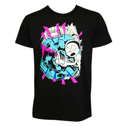 Camiseta Rick and Morty Pink Rays