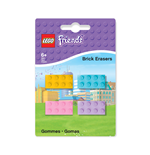 LEGO Friends Pack de 4 Gomas de borrar