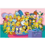 Póster Los Simpsons - Sofa Cast - 61 x 91,5 cm