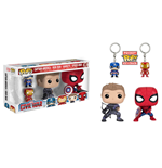 Captain America Civil War Pack de 4 POP! Marvel Vinyl Figuras & Llaveros 9 cm