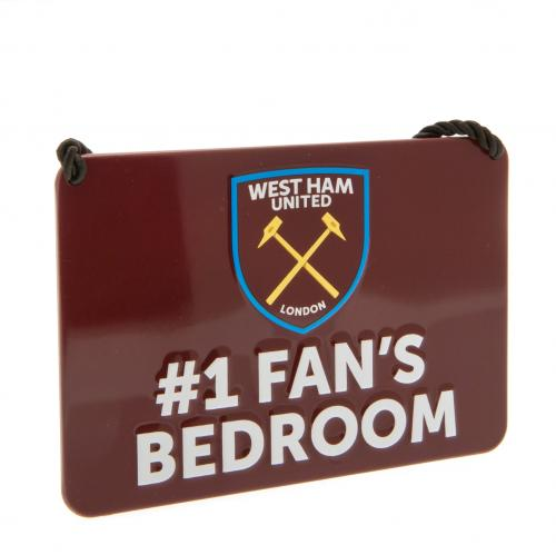 Placa West Ham United Bedroom No1 Fan