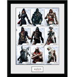Póster Enmarcado Assassins Creed - Compilation Characters - 30x40cm