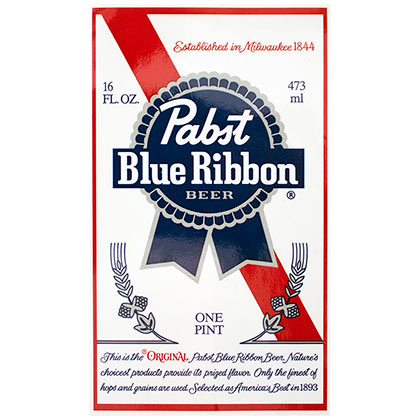 Pegatina Pabst Blue Ribbon 264689