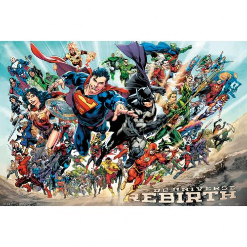 Póster Superhéroes DC Comics Rebirth