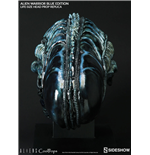 Aliens Réplica 1/1 Cabeza Alien Warrior Blue Edition 45 cm