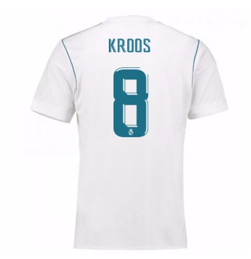 Camiseta 2017/18 Real Madrid 2017-2018 Home (Kroos 8)