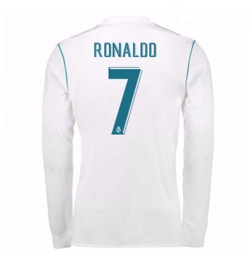 7ef1d486f2201 Camiseta Manga Larga 2017 18 Real Madrid 2017-2018 Home de niño (Ronaldo