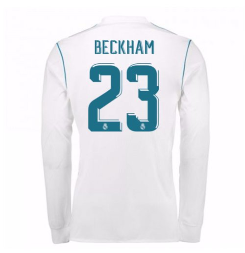 Camiseta Manga Larga 2017/18 Real Madrid 2017-2018 Home (Beckham 23)