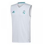 Camiseta de Tirantes Real Madrid 2017-2018 (Blanco)