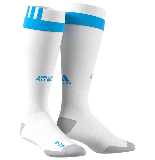 Calcetines Olympique Marseille 2017-2018 Home (Blanco)