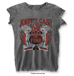 Camiseta Johnny Cash Ring of Fire with Burn Out Finishing