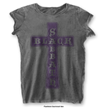 Camiseta Black Sabbath Vintage Cross with Burn Out Finishing