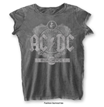 Camiseta AC/DC de mujer - Design: Black Ice with Burn Out Finishing
