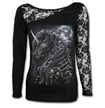 Camiseta manga larga Spiral Dark Unicorn