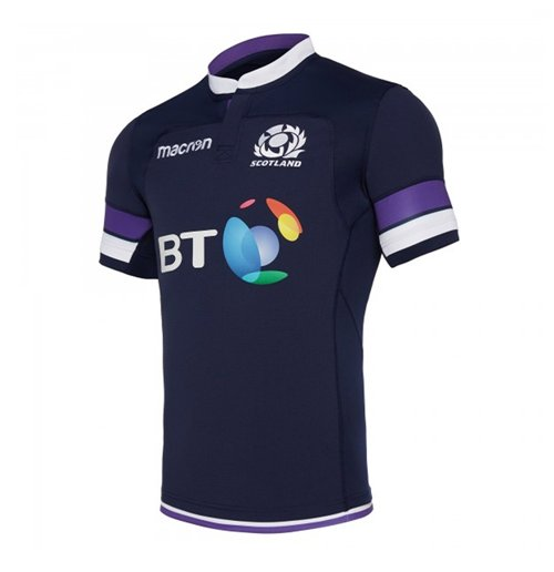 Camiseta Escocia Rugby 2017-2018 Home Authentic Pro Body Fit