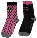 DC Comics Pack de 2 Pares de calcetines Chica Batman Pink