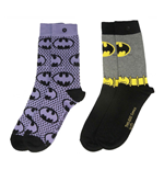 DC Comics Pack de 2 Pares de calcetines Chica Batman Purple