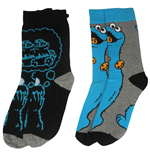 Barrio Sésamo Pack de 2 Pares de calcetines hombre Cookie Monster