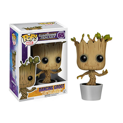 Figura Statuetta Guardians of the Galaxy Funko Pop GUARDIANS OF THE GALAXY Dancing Groot Bobble Head