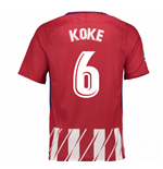 Camiseta 2017/18 Atlético Madrid 2017-2018 Home (Koke 6)