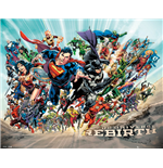 Póster Superhéroes DC Comics - Rebirth - 40x50 Cm