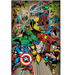 Póster Marvel Superheroes - Here Come The Heroes - 61X91,5 Cm