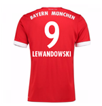 Camiseta 2017/18 Bayern de Munich 2017-2018 Home (Lewandowski 9)