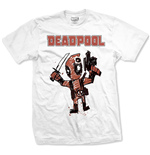 Camiseta Marvel Superheroes Deadpool Cartoon Bullet
