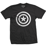 Camiseta Marvel Superheroes Captain America Civil War Basic Shield Distressed