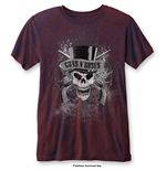 Camiseta Guns N' Roses de hombre - Design: Faded Skull