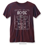 Camiseta AC/DC Fasion de hombre - Design: Cannon Swig with Burn Out Finishing