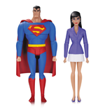 Superman La Serie Animada Pack de 2 Figuras Superman & Lois Lane 15 cm