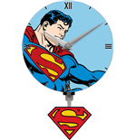 Superman Reloj de Pared Mini 3D Motion Swinging Logo