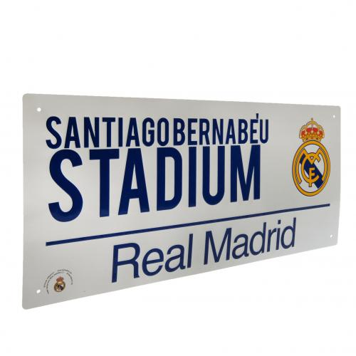 Placa Real Madrid  F.C. Street Sign