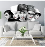 Vinilo decorativo para pared Audrey Hepburn 274634