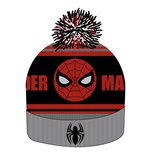 Spider-Man Gorro Beanie Knitted Logo & Face