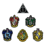 Harry Potter Pack de 6 Parches Escudos de las Casas
